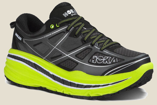 "Hoka One One ""Stinson"": Maximum Cushioning."
