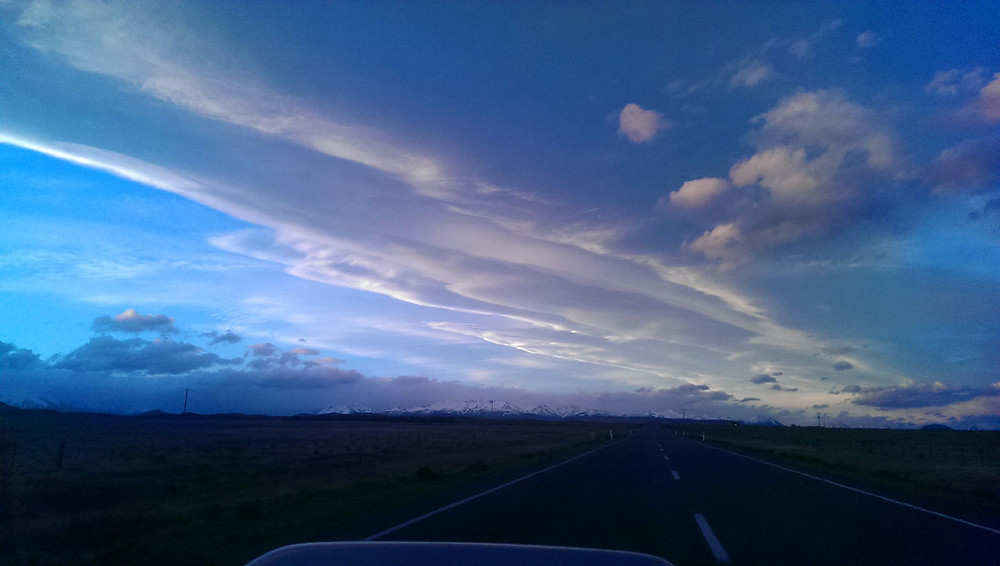 Big Sky Country: the author slowed to almost legal speed to snap this.