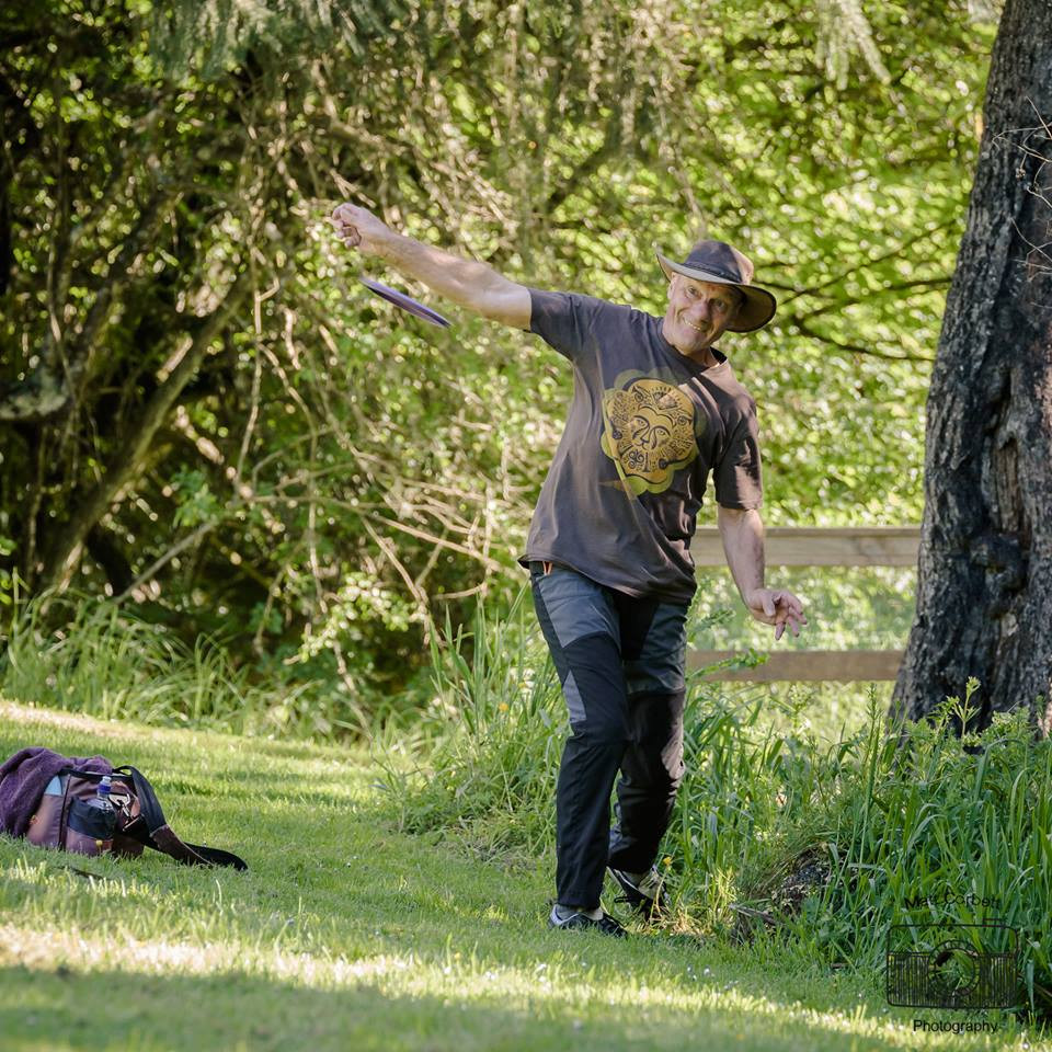 Dunedin SGM Neil Hardy returned to disc golf fore the first time in a decade