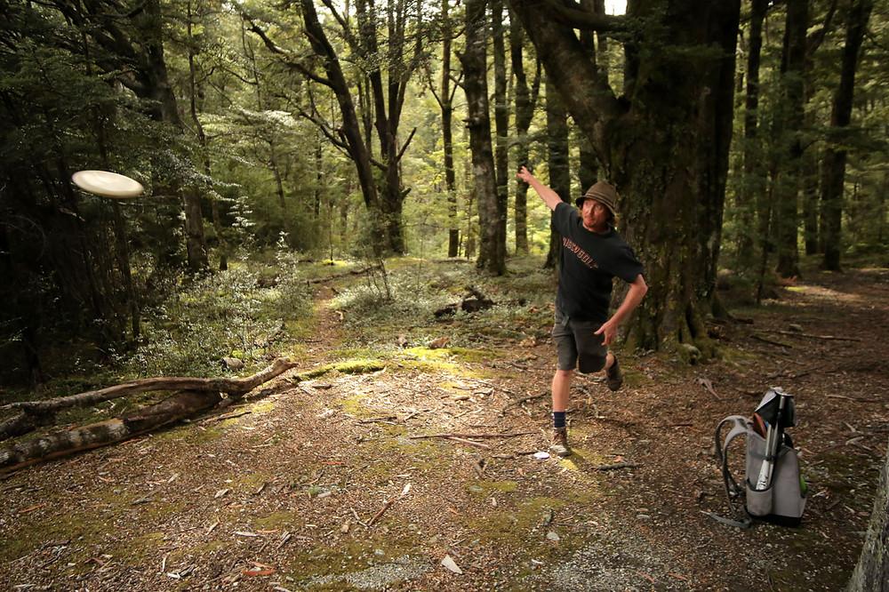 Paz Maslen, deep in the Paradise Forest, NZ