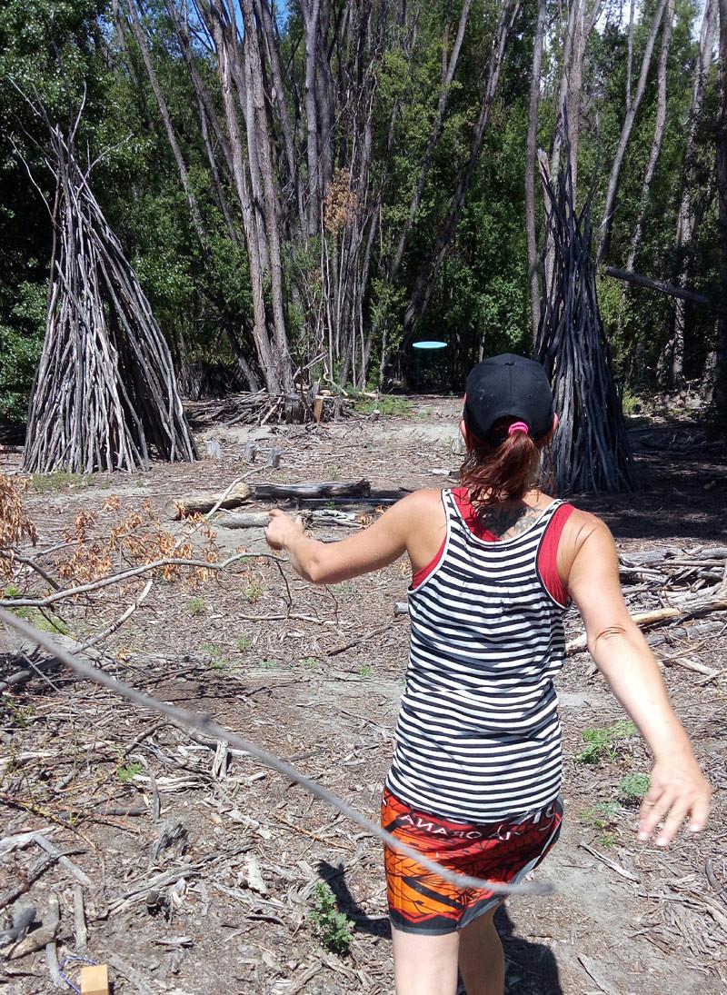 Hayley Flintoft's standing throw.
