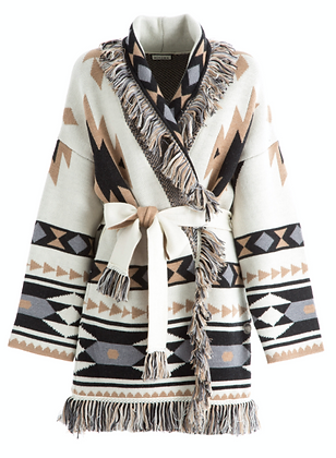 Tribe Coat White/Beige