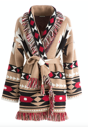 Tribe Cardigan Nude/Red