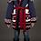 Thumbnail: Tribe Cardigan Navi&Red