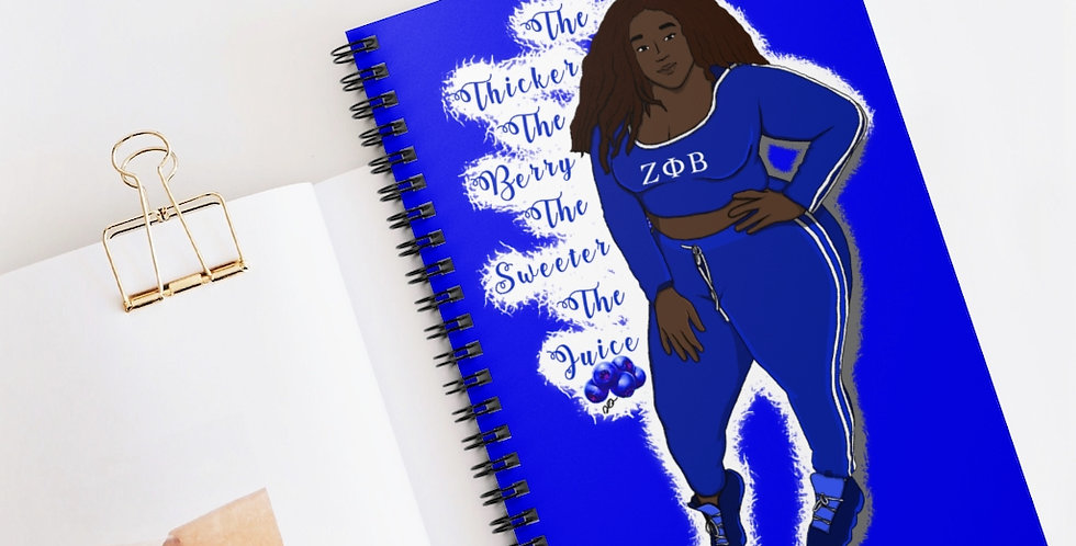 Thicker the Berry Spiral Notebook