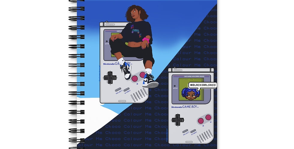 Game Girl Color Spiral Journal