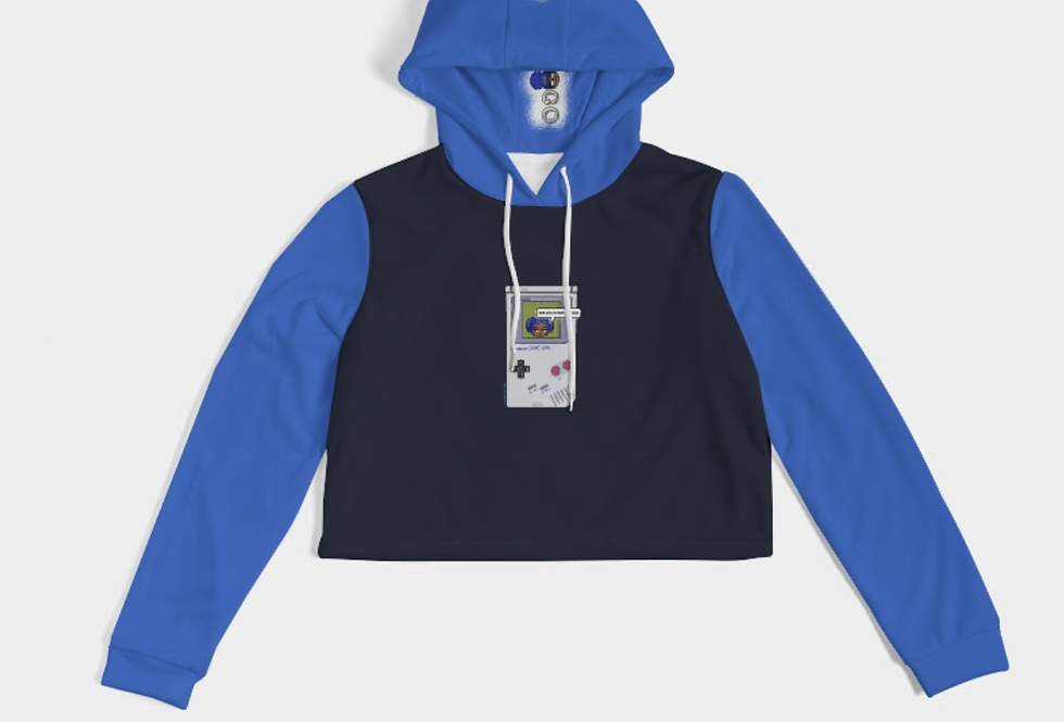 Game Girl Color Cropped Hoodie