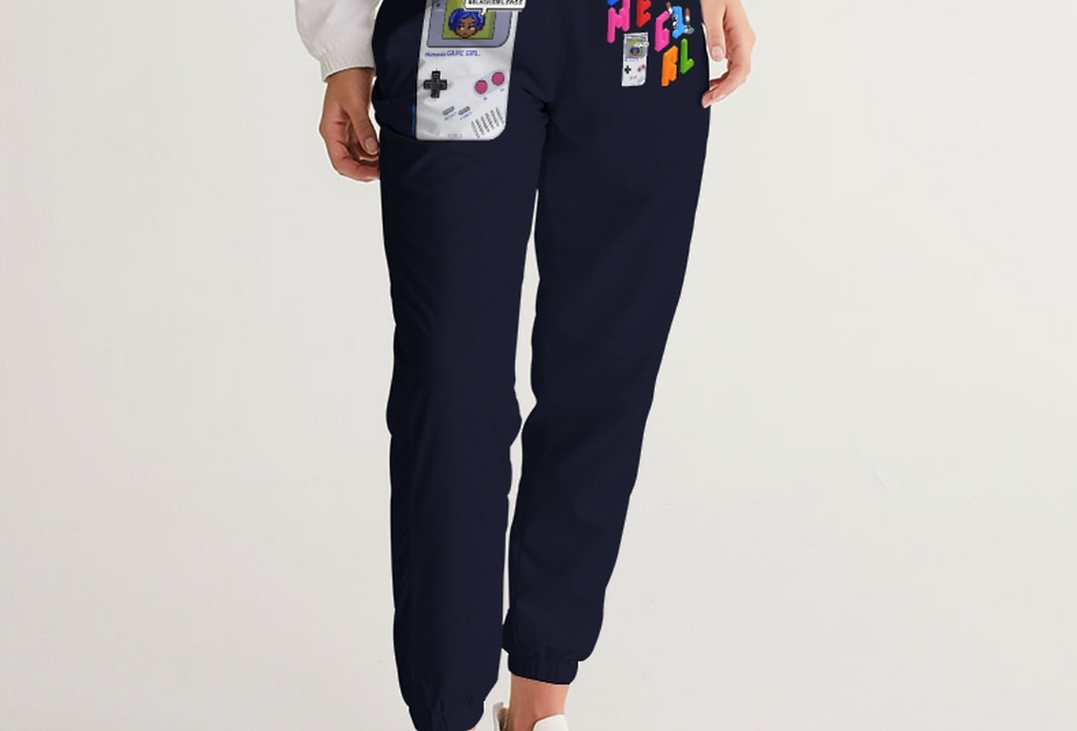 Game Girl Color Navy Track Pants