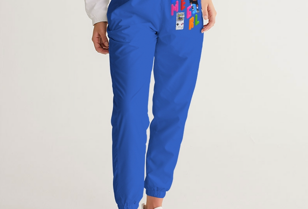 Game Girl Color Blue Track Pants