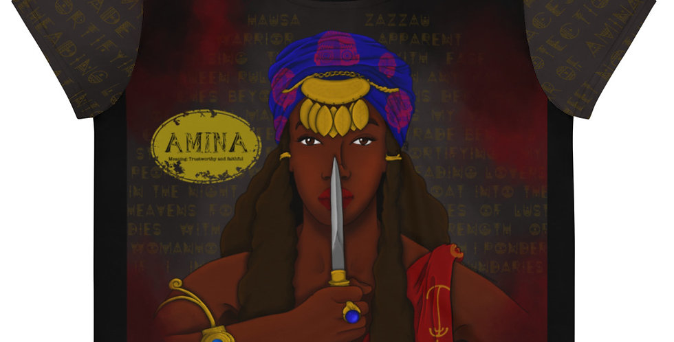 Amina All Over Print Crop Tee