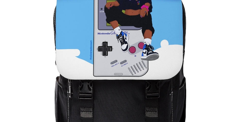 Game Girl Color Shoulder Backpack