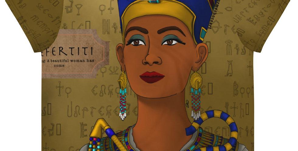 Nefertiti All Over Print Crop Tee