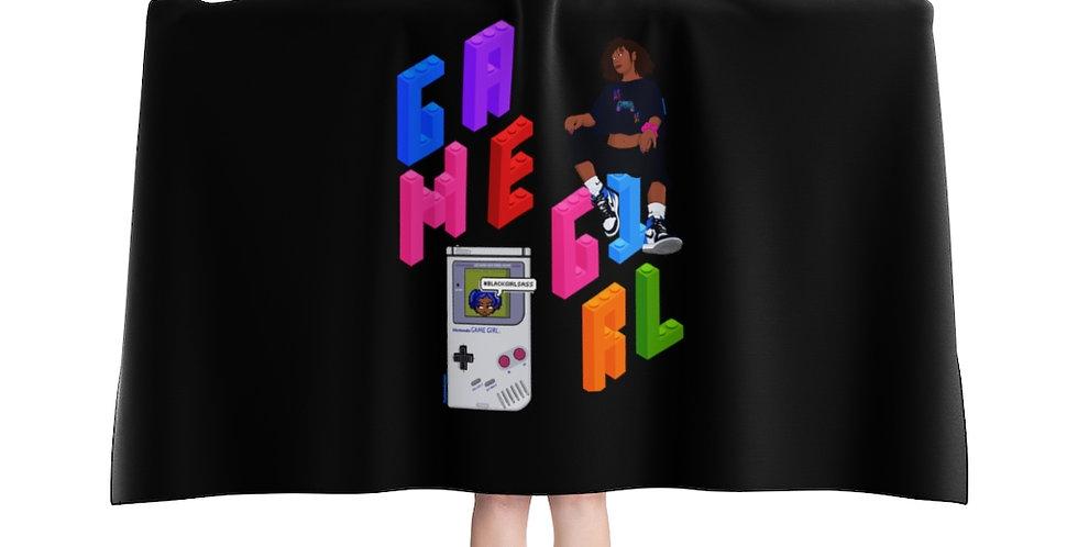 Game Girl Hooded Blanket