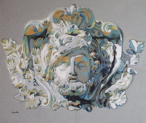 Inspiré d'un mascaron de Hercule (Strasbourg, France)