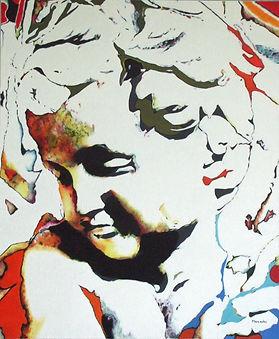 Peinture à l'huile sur toile inspirée de l'Enfant de Michel Ange