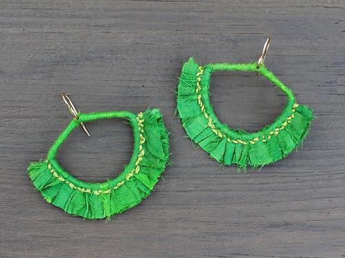 Sari.Earrings.Green