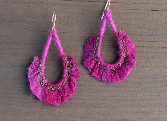Sari.Earrings.Fuchsia