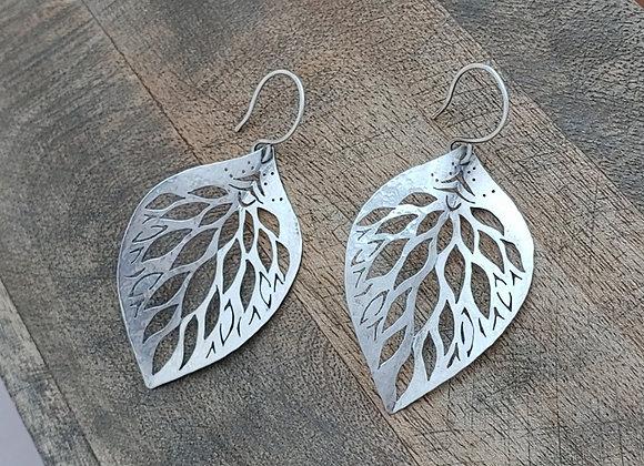 Eden.Earrings: Small & Silver