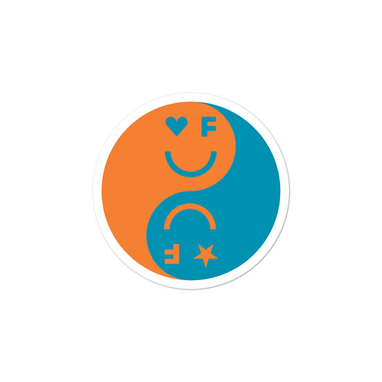 Balanced Sticker | Blue&Orange