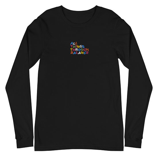 All Things Through Balance Long Sleeve Tee | Multi- Collection | Black