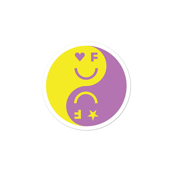 Balanced Sticker | Purple&Yellow
