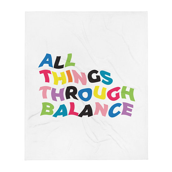 All Things Through Balance Throw Blanket | Multi Collection