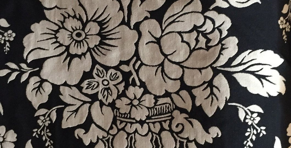Black and Off White Floral - Reversible Floral