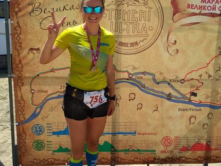 TENGRI ULTRA 2019: Оксана Рябова фінішує другою серед жінок на 70k (день 3)