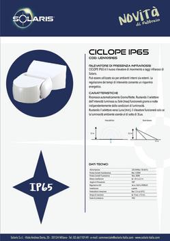 """Alla gamma """"CICLOPE"""" si aggiunge IP65"""