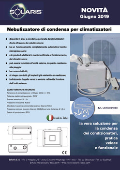 Novità il Nebulizzatore di condensa per climatizzatori