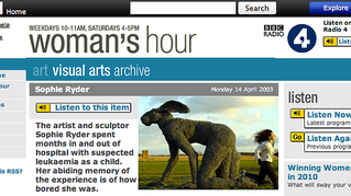 Sophie Ryder on Woman's Hour