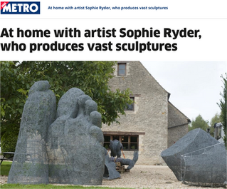 Sophie Ryder in Metro Magazine