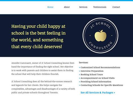 Educational Consultant Website