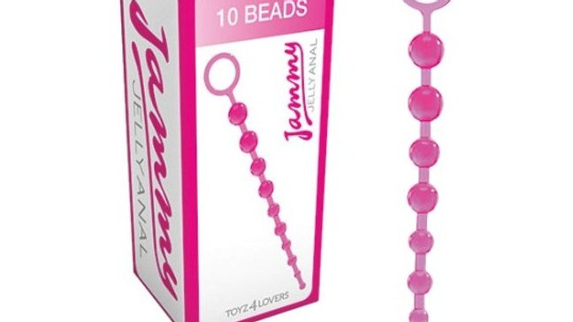 10 CUENTAS ANALES JAMMY JELLY ANAL ROSA