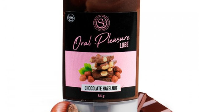 LUBRICANTE BESABLE DE CHOCOLATE Y AVELLANAS ORAL PLEASURE 34GR