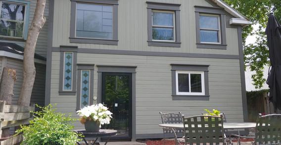 Exterior siding and window trim
