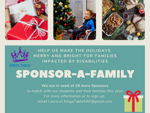 Sponsor-A-Family - Volunteers Needed