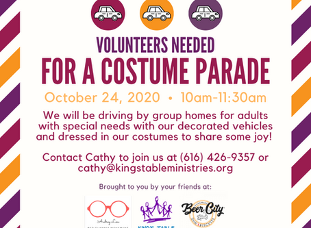 Join our Costume Parade! We need you to help spread some joy!