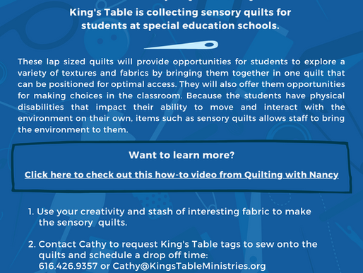 Sewing Sensory Quilts for students with special needs