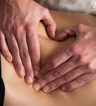 osteopathy procedure on the belly, formi
