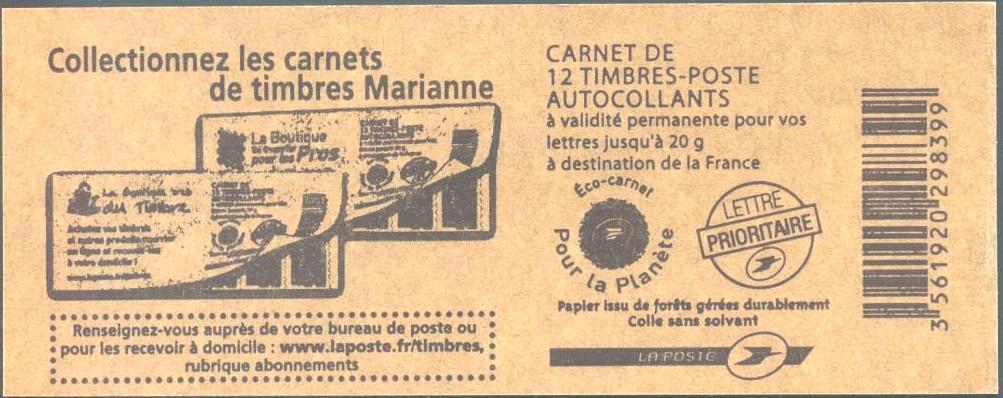 4197-C21 - ACCP 709 - Collectionnez les carnets de timbres Marianne