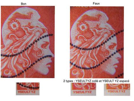 A vos loupes : Marianne l'engagée  faux timbre ou pas  ?