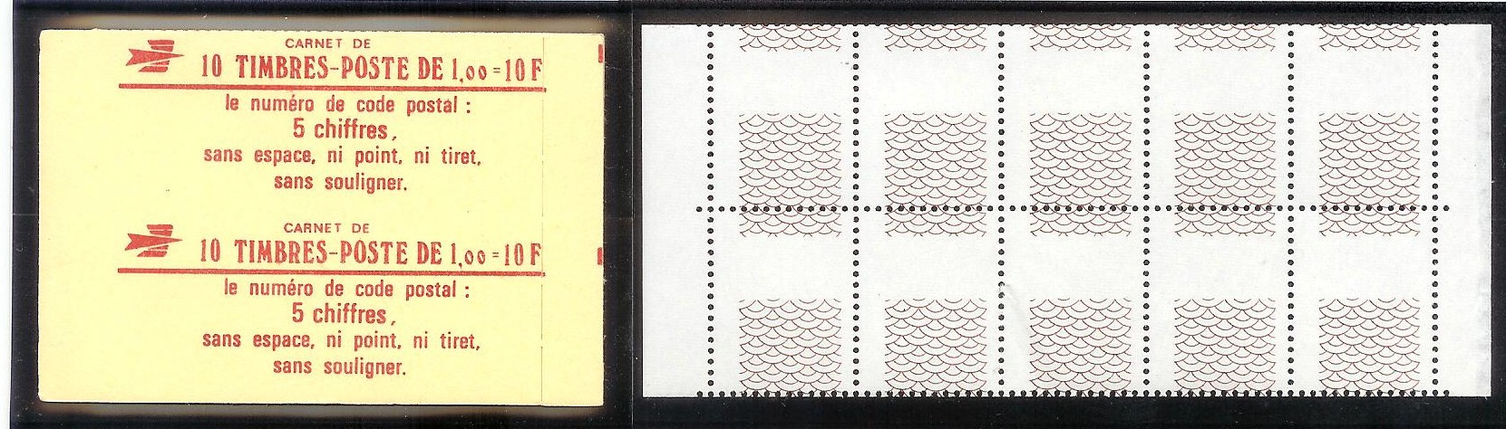 ACCP ES 139A - Guillochis - double carnet de 10 timbres
