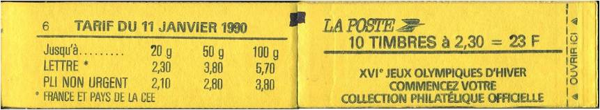 2614-C5 - Carnet de 10 timbres - couverture Jaune - Confectionneuse 6