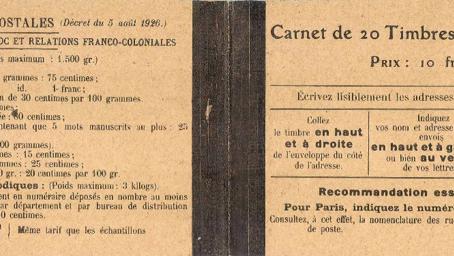 Carnet 50c rouge Semeuse lignée type IV avec dos plein noir