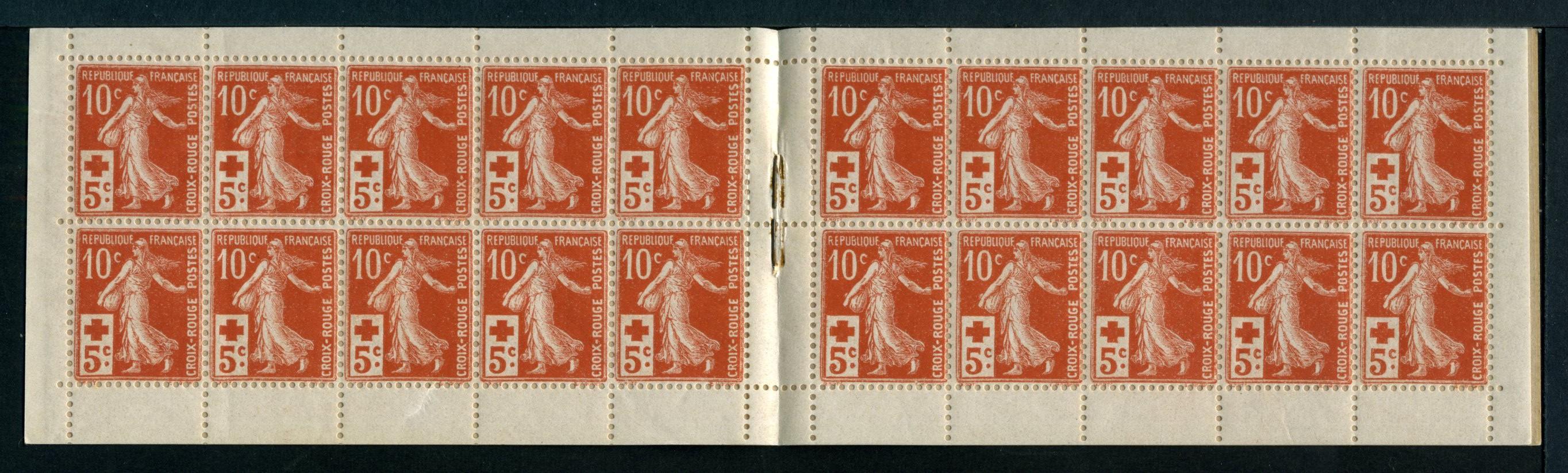 Carnet avec surtaxe en faveur de la Croix-Rouge - Mars 1915 - 147-C1 - ACCP CR1