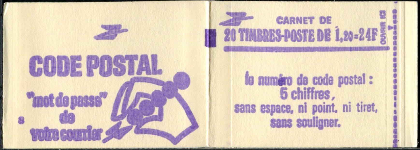 2101-C1b - ACCP 538AA - carnet de 20 timbres avec le nouveau logo de la Poste