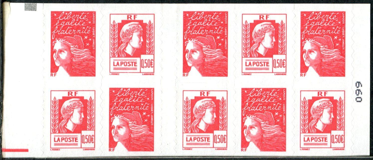 1512-_ACCP_658_-_Carnet_Mixte_Marianne_de_Luquet_et_Marianne_d'Alger_-_Souverain_(_Carré_noir_+_RE)