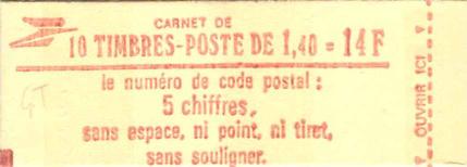 Carnet Sabine à 1,40 F rouge confectionneuse 4.