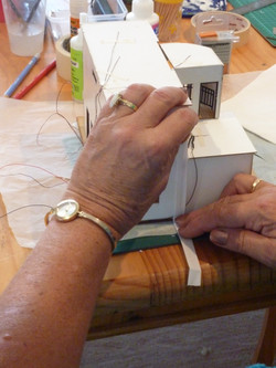 78. join two sides of the building together with  glue and bias binding.JPG